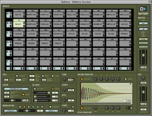 Native Instruments' software drum sampler, Battery, is ideal if you want to create drum patterns from individual drum samples.