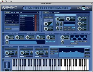 Hardcore Bass - You can play the keyboard with the mouse. Shaded keys show which ones have samples assigned to them.