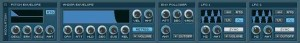 Intakt Modulation section where different settings can be applied to different samples.
