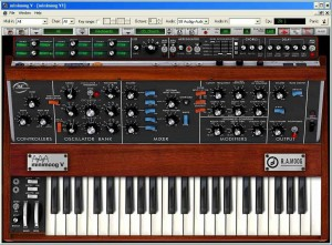 Arturia's Minimoog V sofy synth emulation (click to enlarge)