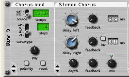 Applied Acoustics' Tassman modular synth includes dedicated Chorus and Stereo Chorus modules.