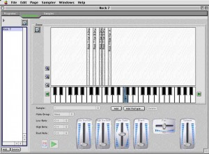 Bitheadz' Unity DS-1 sampler has a graphic editor for multisample editing which lets you see the samples assigned to the keys.