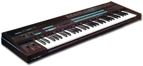 Yamaha's ubiquitous DX7 that started the digital synthesiser revolution.