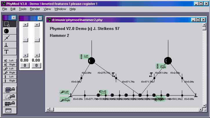 PhyMod is a software-based Physical Modelling synthesiser capable of creating sounds not possible with other synthesis techniques.