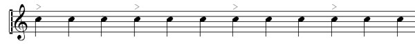 Time Signatures example