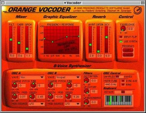 : Prosoniq's Orange Vocoder plug-in was one of the first popular software vocoder effects.
