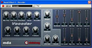 Cubase VST and SX include a Vocoder plug-in free, gratis and for nothing