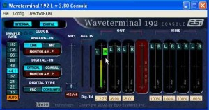 The Waveterminal 192L Console gives you quick access to and control over the card's major functions.
