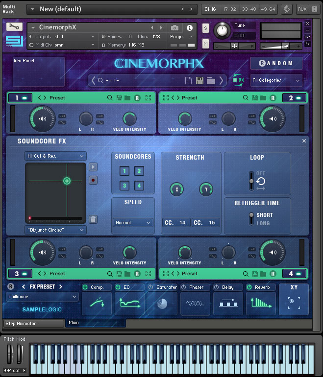 Sample Logic Cinemorphx Morphing screen