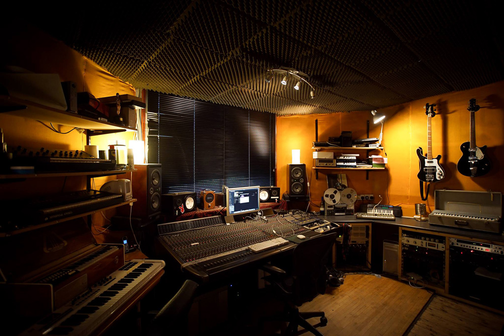 The Crypt Studio control room