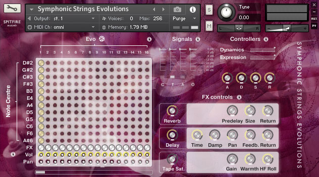 Symphonic Strings Evolutions grid