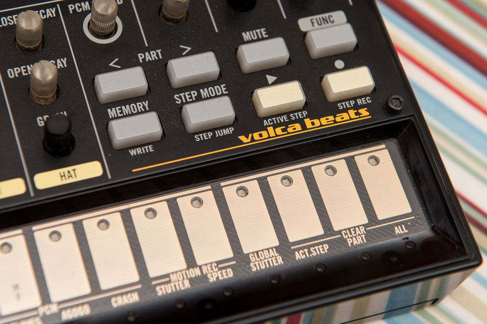 Korg Volca Beats performance controls