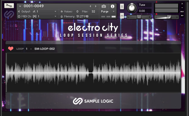 Loop Session Series – Electro City interface