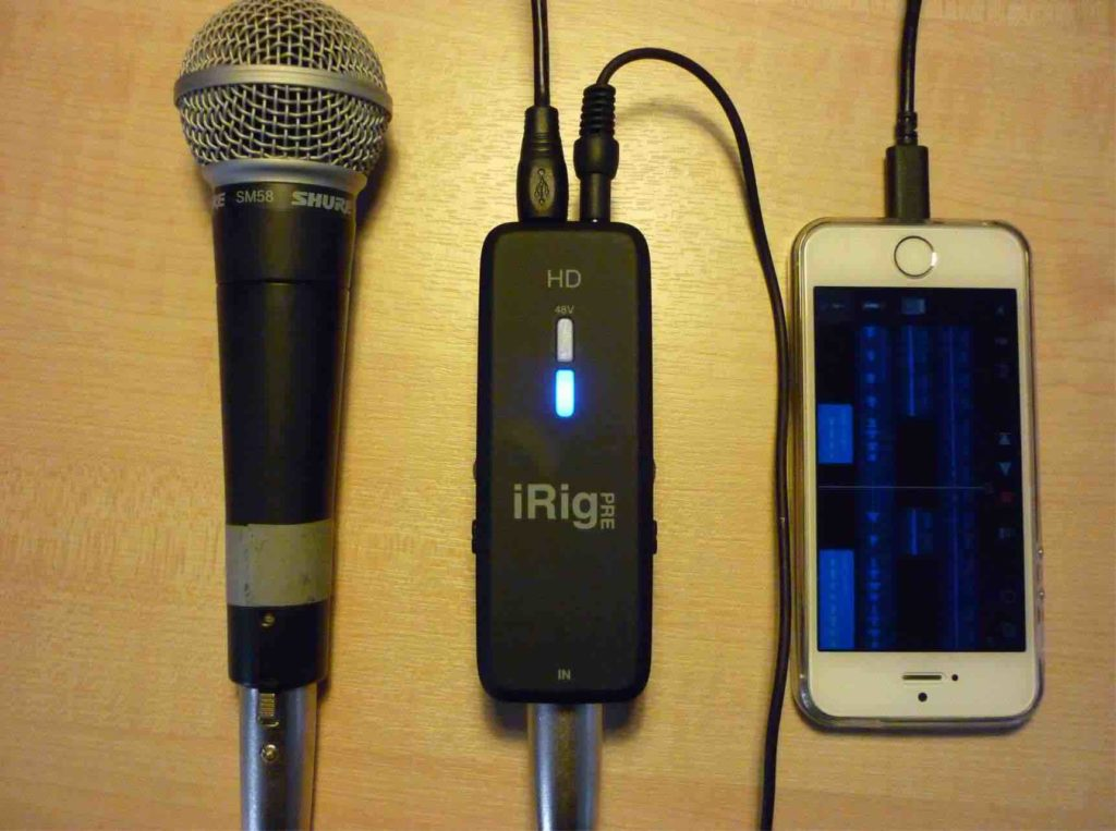 Mic, iRig, iPhone