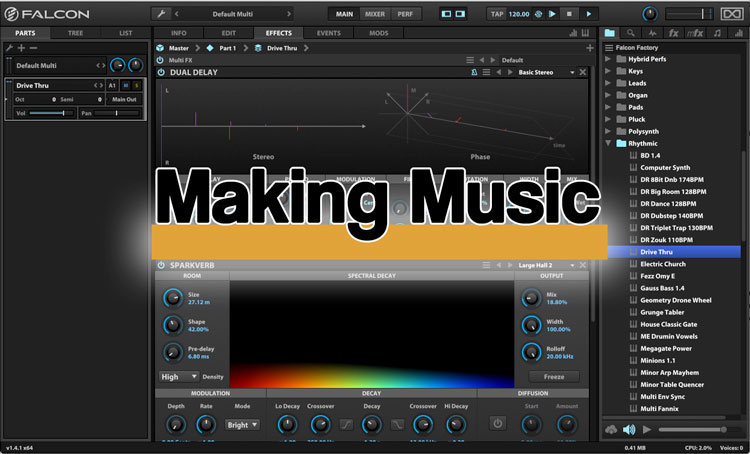 uvi falcon review making music